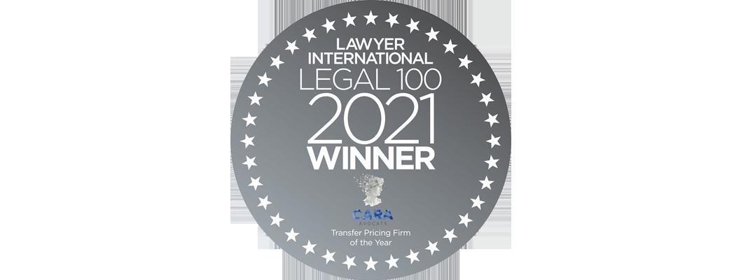 Cara société d'avocats intègre le prestigieux classement LEGAL 100